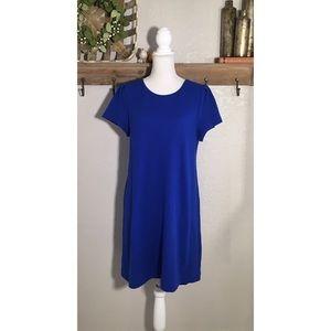 Anthropologie Maeve Royal Blue Texture Shift Dress